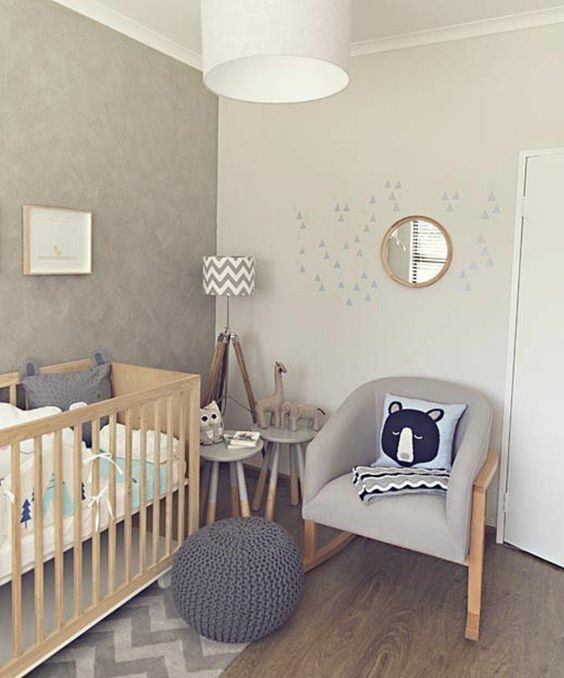 Lit Bebe Gris Nouveau La Peinture Chambre Bébé 70 Idées Sympas