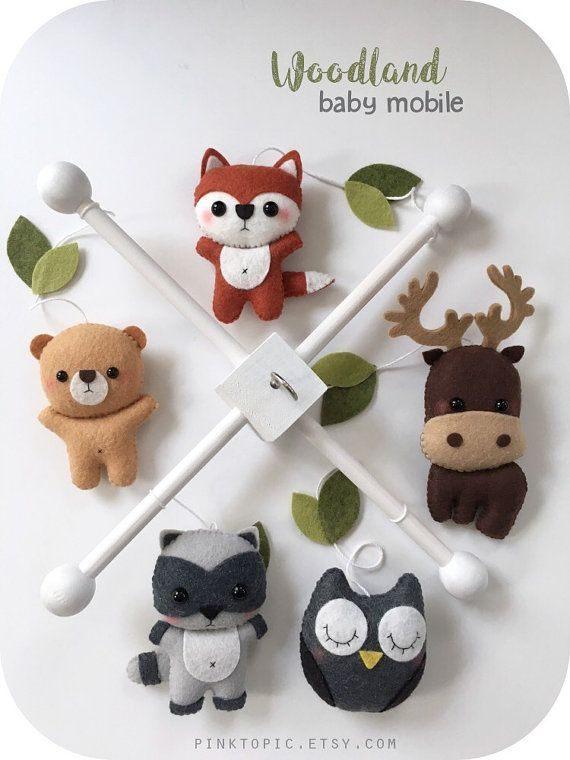 Lit Bebe Lune Le Luxe Animaux Créatures Des Bois Bébé Mobile forªt Chambre D Enfant