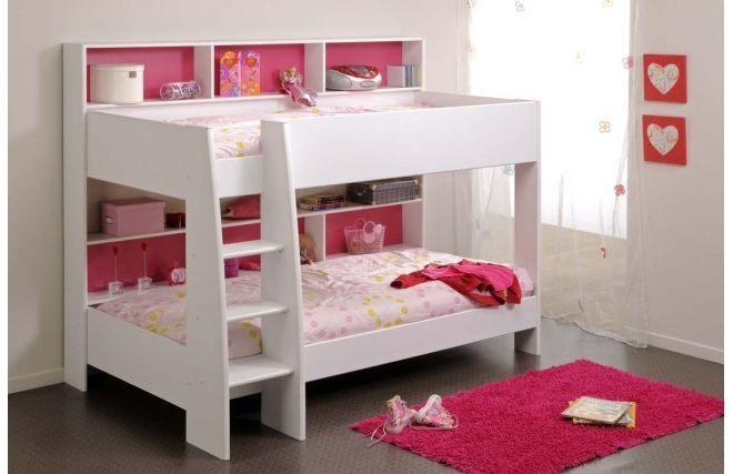 Lit Bebe Promo Le Luxe Lit Superposé Fille Blanc Et Rose Aria Pinterest