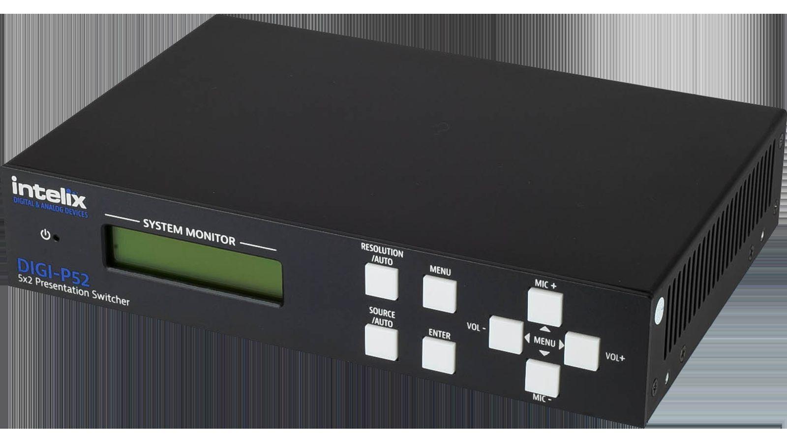 Lit Bébé Transportable Impressionnant Digi P52 Bstk Presentation Switcher 5 Input X 2 Output