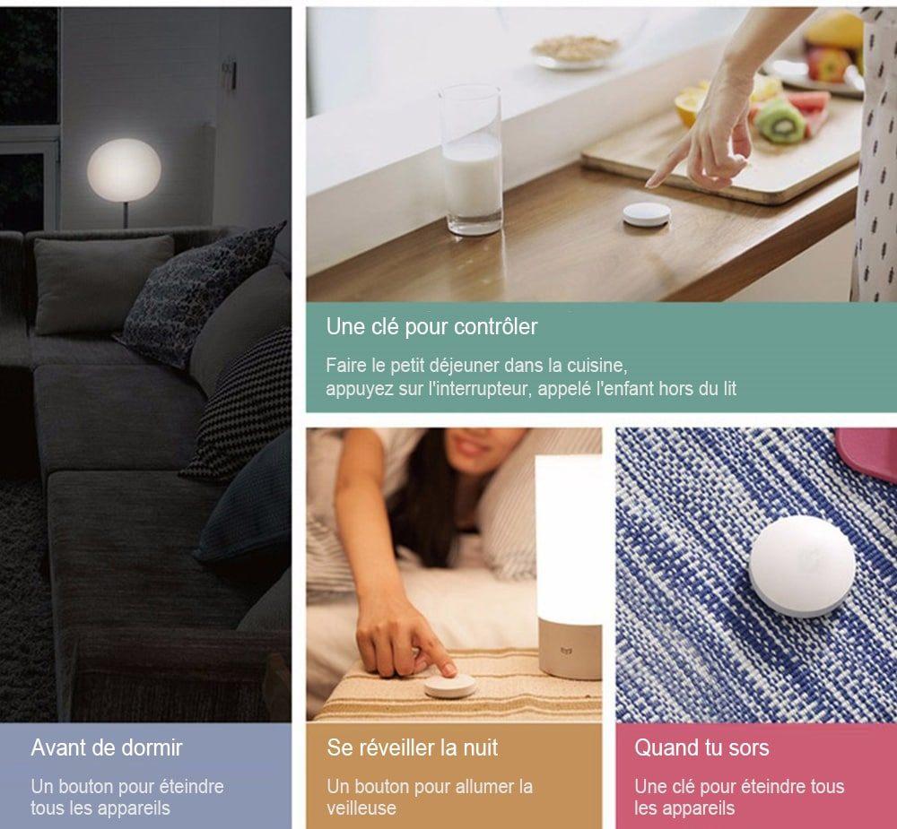 Lit Blanc 1 Place Le Luxe Gearbest Fr:xiaomi Mijia Aqara Kit De Sécurité Maison Intelligente