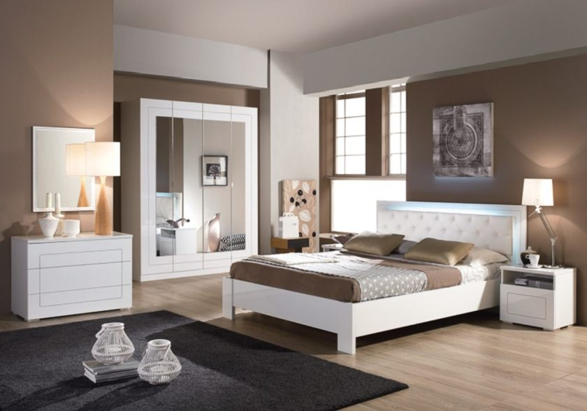 Lit Blanc Laqué 160×200 Bel O Deco Chambre Bebe