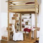 Lit Bois 160 Magnifique Frais Lit Mezzanine Adulte 160—200 Luxe Lit Bois 160—200 Cadre Lit