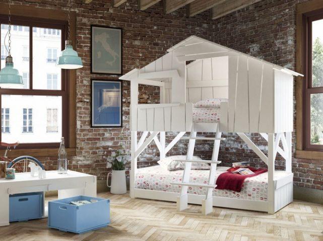 Lit Cabane Bois Le Luxe Les Plus Jolies Chambres D Enfants De La Rentrée Elle Décoration