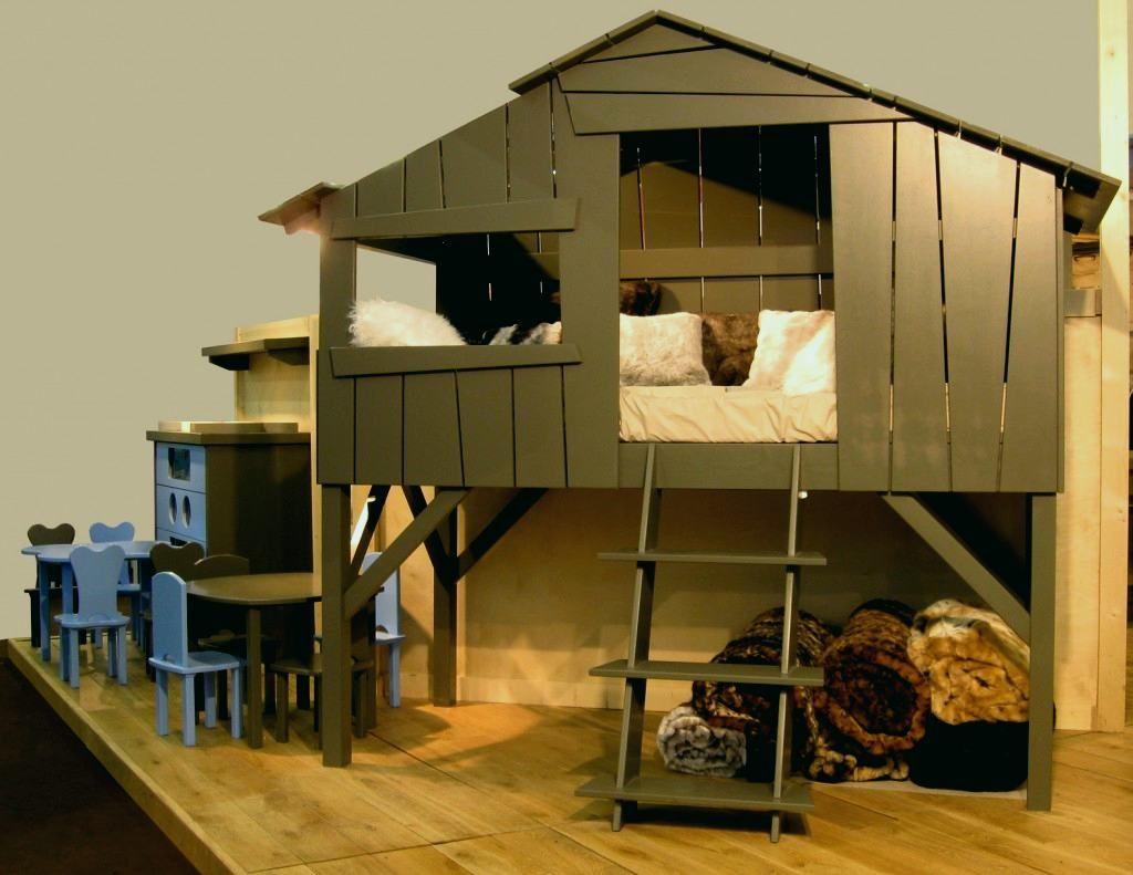Lit Cabane Enfant Charmant Lit Mezzanine Cabane Meilleurs Cabane Lit Enfant Un Lit Cabane Pour