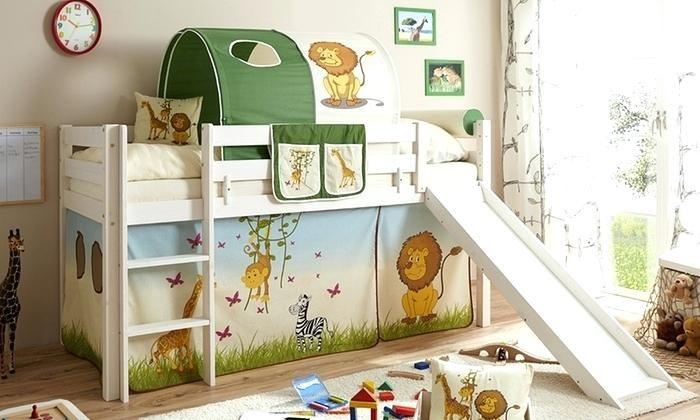 lit cabane mezzanine inspirant lit cabane toboggan pas. Black Bedroom Furniture Sets. Home Design Ideas