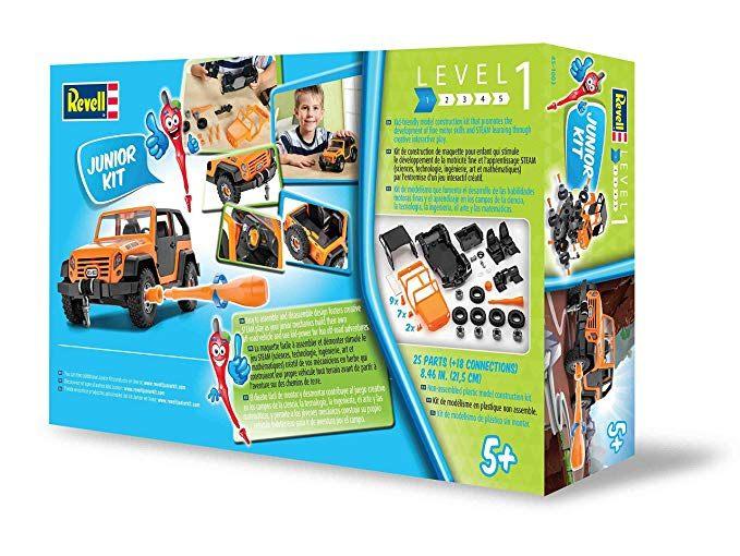 Lit Cars Enfant Agréable Amazon Revell Junior F Road Vehicle Model Kit orange toys