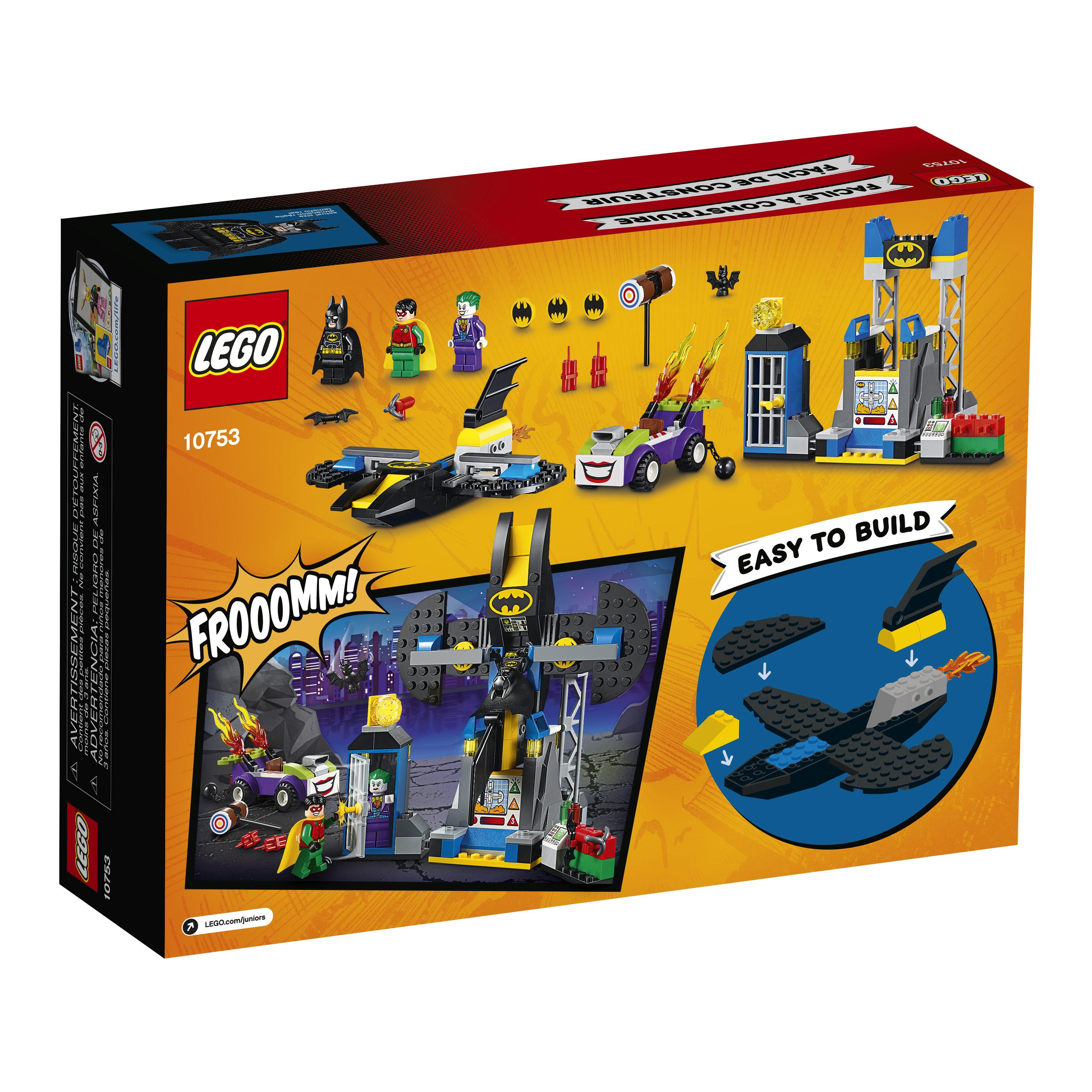 Lit Cars Enfant Agréable Lego Juniors the Joker Batcave attack 151 Pieces Walmart