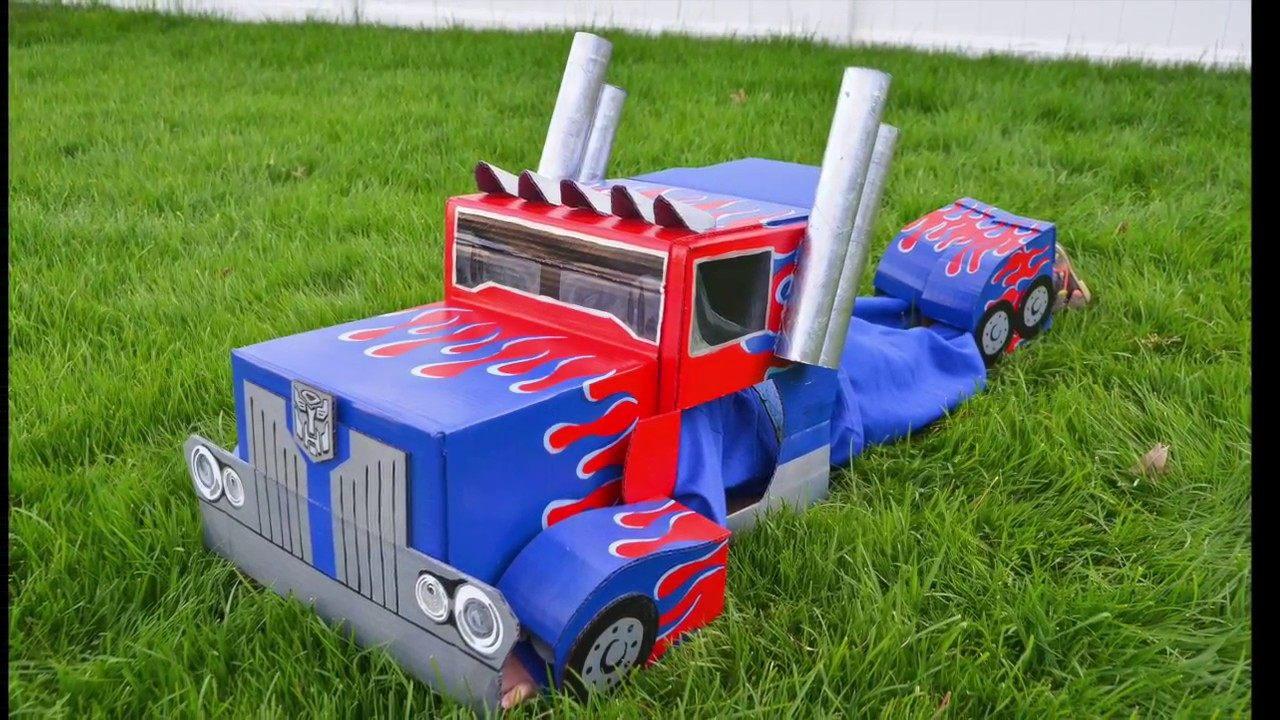 Lit Cars Enfant Douce Optimus Prime Transformers Cardboard Costume Autobot to Semi Truck