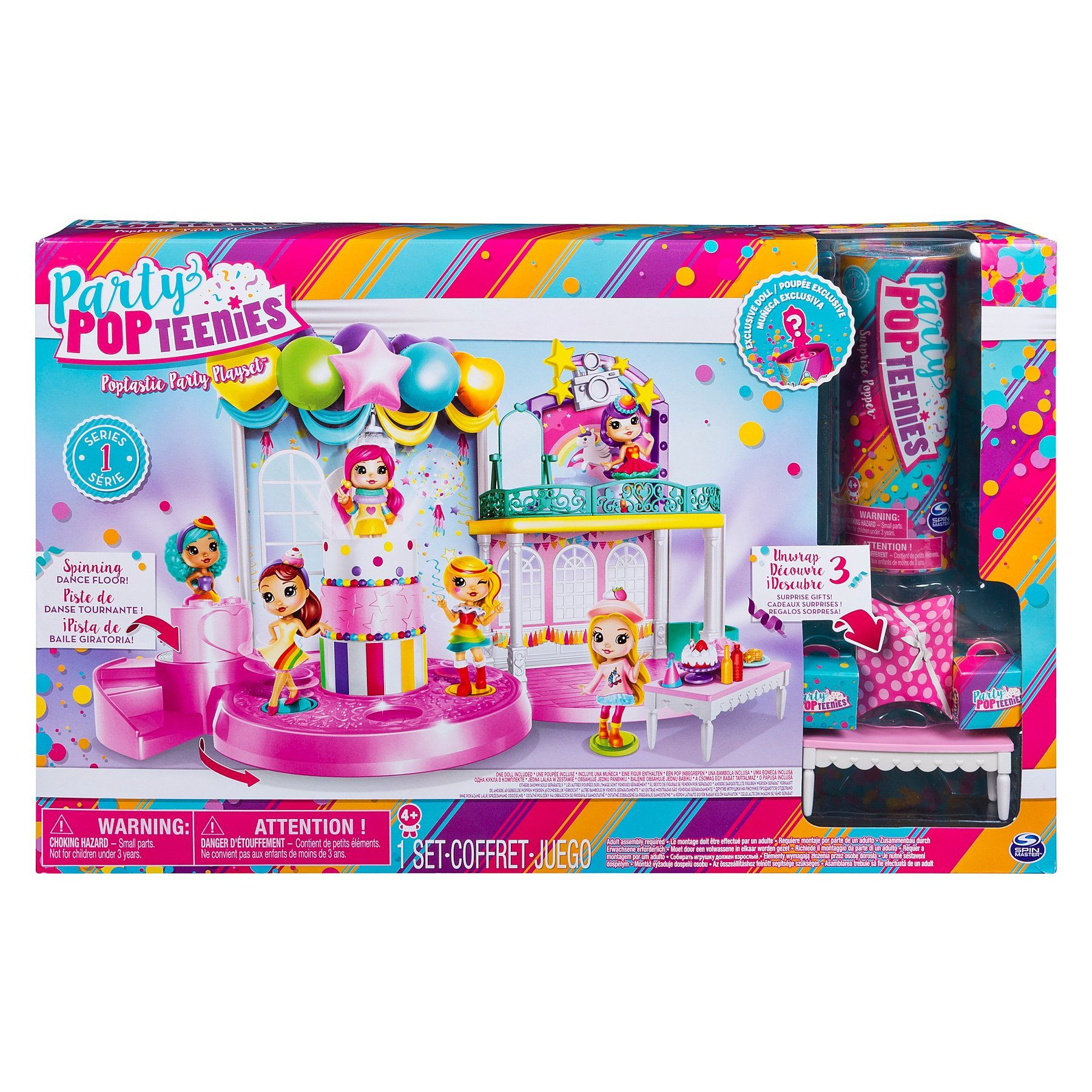 Lit Cars Enfant Le Luxe Party Popteenies Poptastic Party Playset with Confetti Exclusive