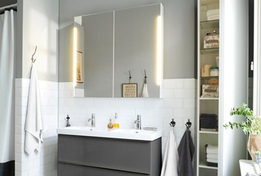 Lit Chez Ikea Belle Mirror Bathroom Cabinets Ikea
