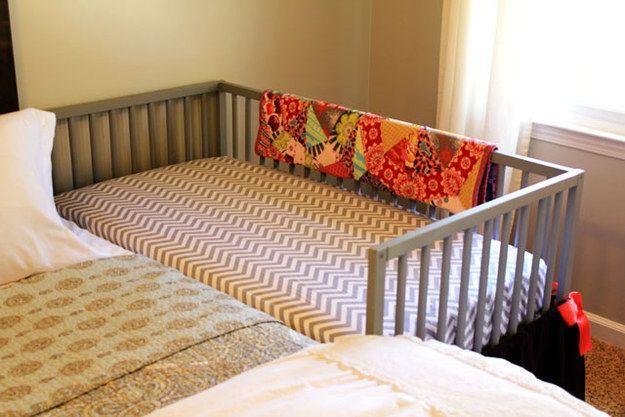 Transformez un berceau IKEA en lit cododo Chambre Marius