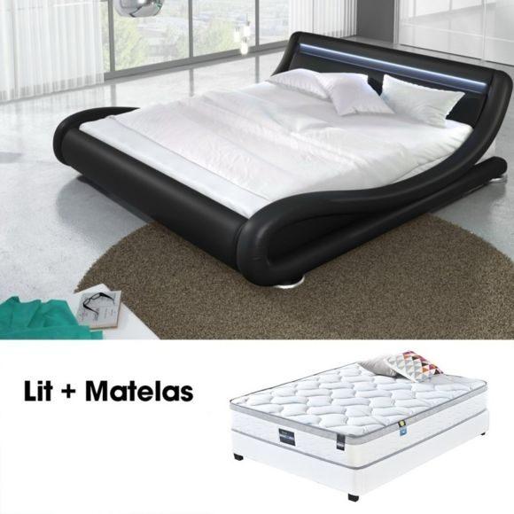 Lit Coffre 140×190 Avec Matelas De Luxe Meubler Design Lit Led Julia Noir 160cm Avec Matelas Romance Pas