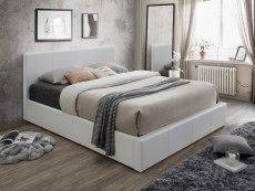 Lit Coffre Blanc 140×190 Le Luxe Lits Pratiques Avec Rangements Et sommier Coffre Pas Cher