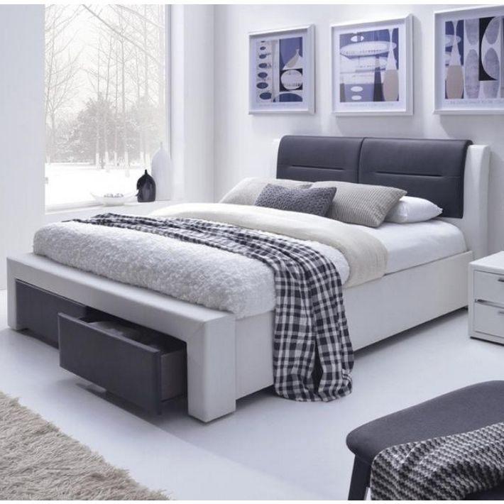 Lit Coffre Blanc 160×200 Charmant Lit 160 X 200cm Avec sommier Coffre Sandra