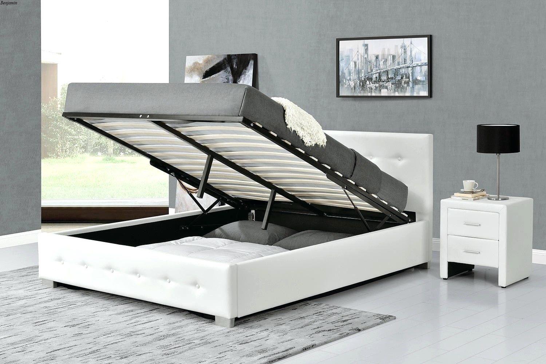 Lit Coffre Blanc 160×200 Impressionnant Lit Coffre Blanc 160×200