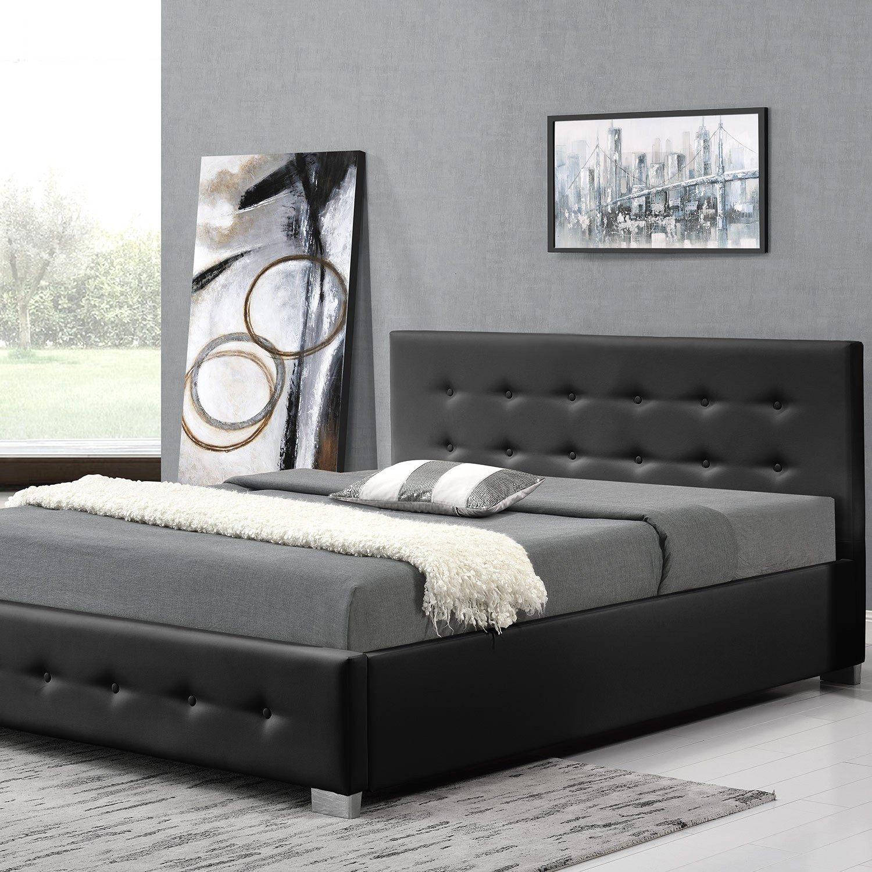 Lit Coffre Sans Tête De Lit Luxe Lit Design Noir