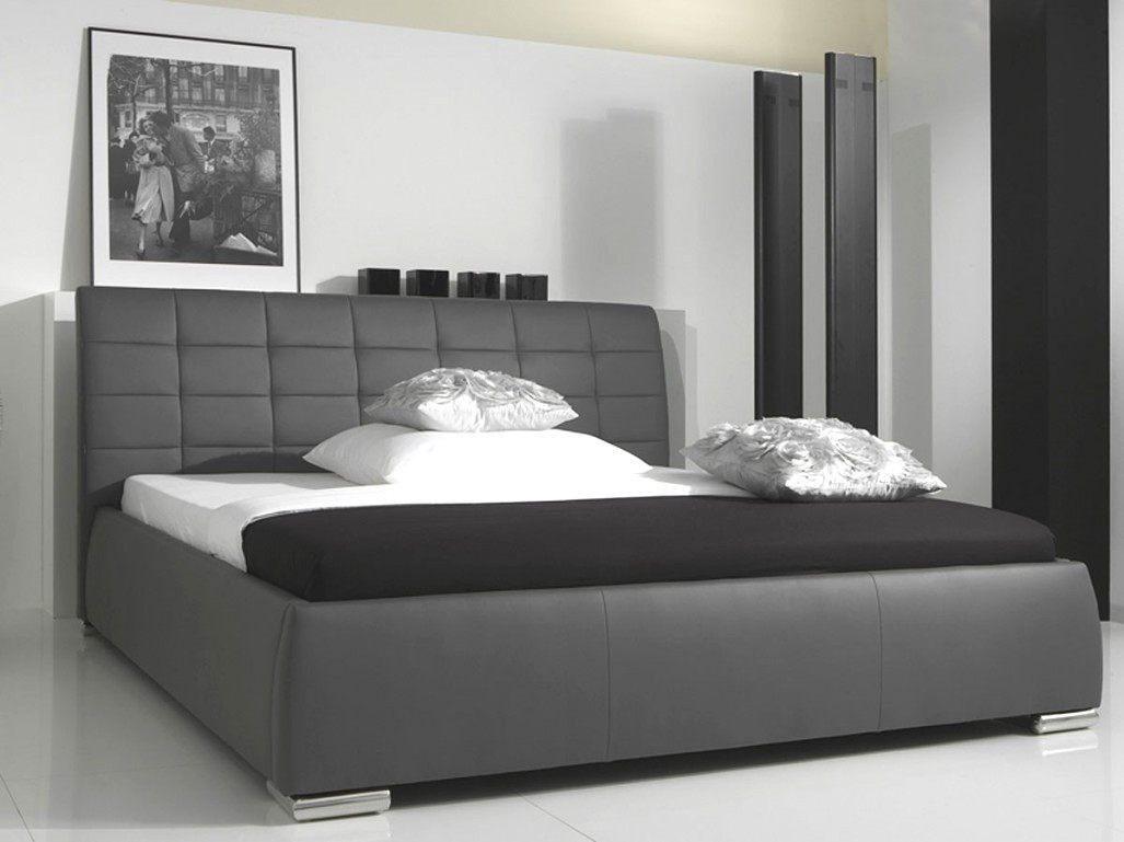 Lit Coffre Sans Tête De Lit Unique Lit Design Noir