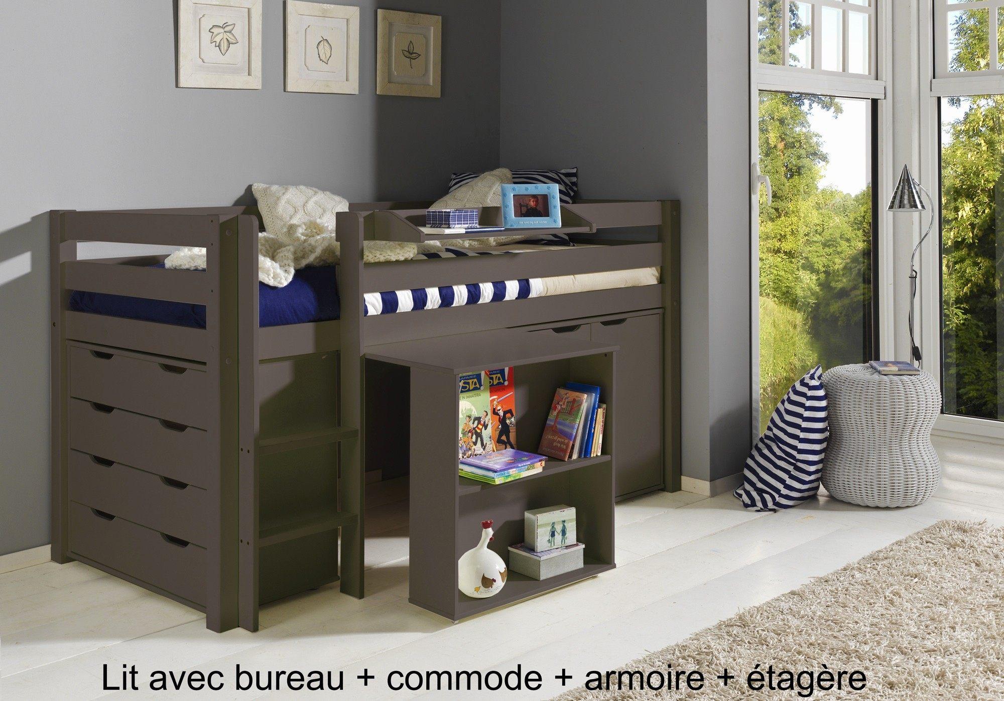 Lit Combiné Bureau Ikea Impressionnant Intéressant Lit Biné