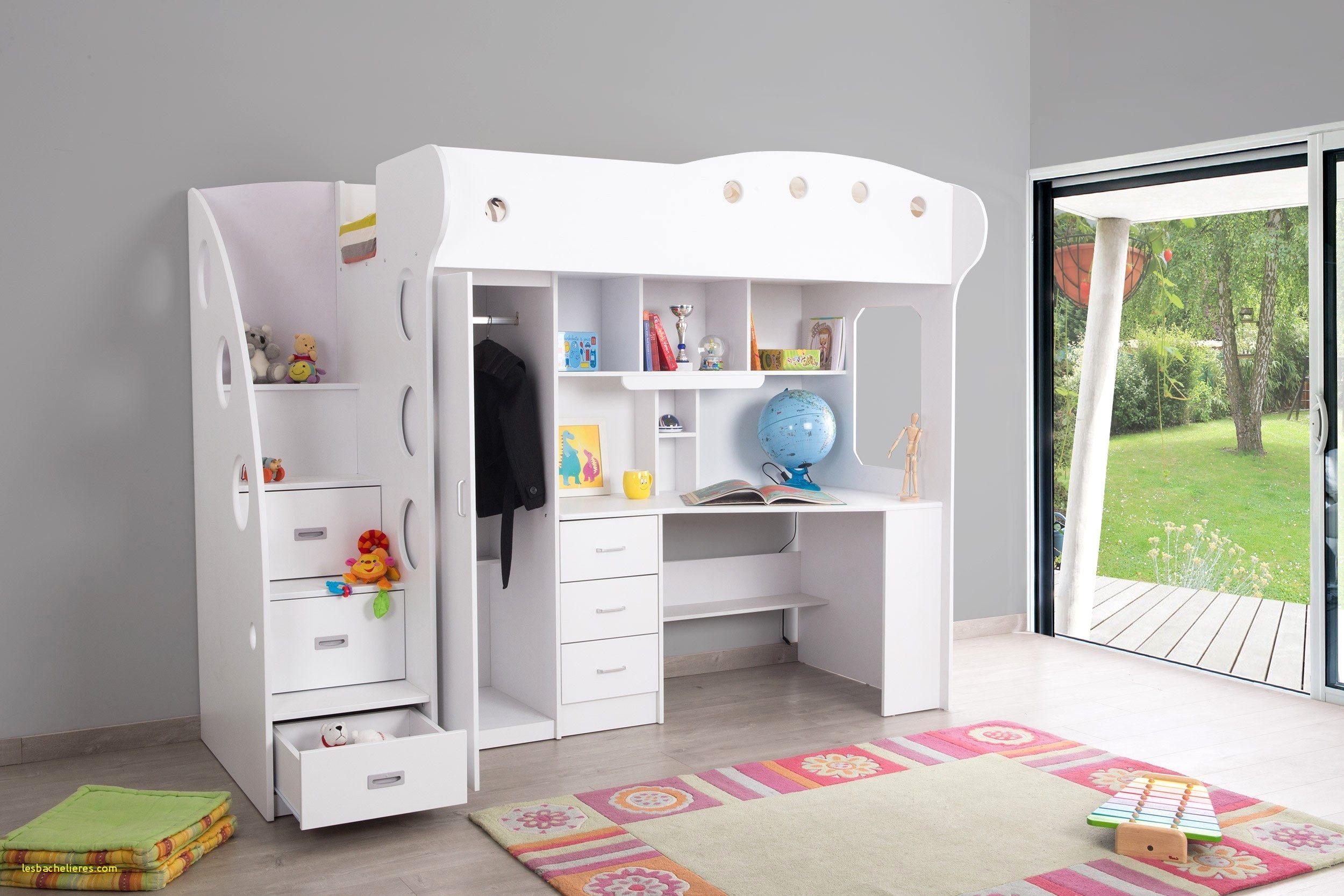 Lit Combiné Mezzanine Nouveau Résultat Supérieur 95 Luxe Lit Biné Armoire Bureau Image 2018