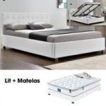 Lit Complet 160x200 Impressionnant Lit Plet Capitole Matelas Romance 140 Blanc