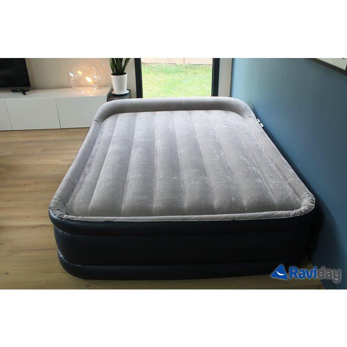 Lit D Appoint 2 Places Bel Intex Rest Bed Deluxe Fiber Tech 2 Places Matelas Gonflable