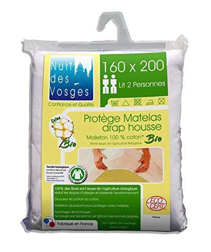 Lit De 160×200 Belle Nuit Des Vosges soft Mattress Protector organic Cotton