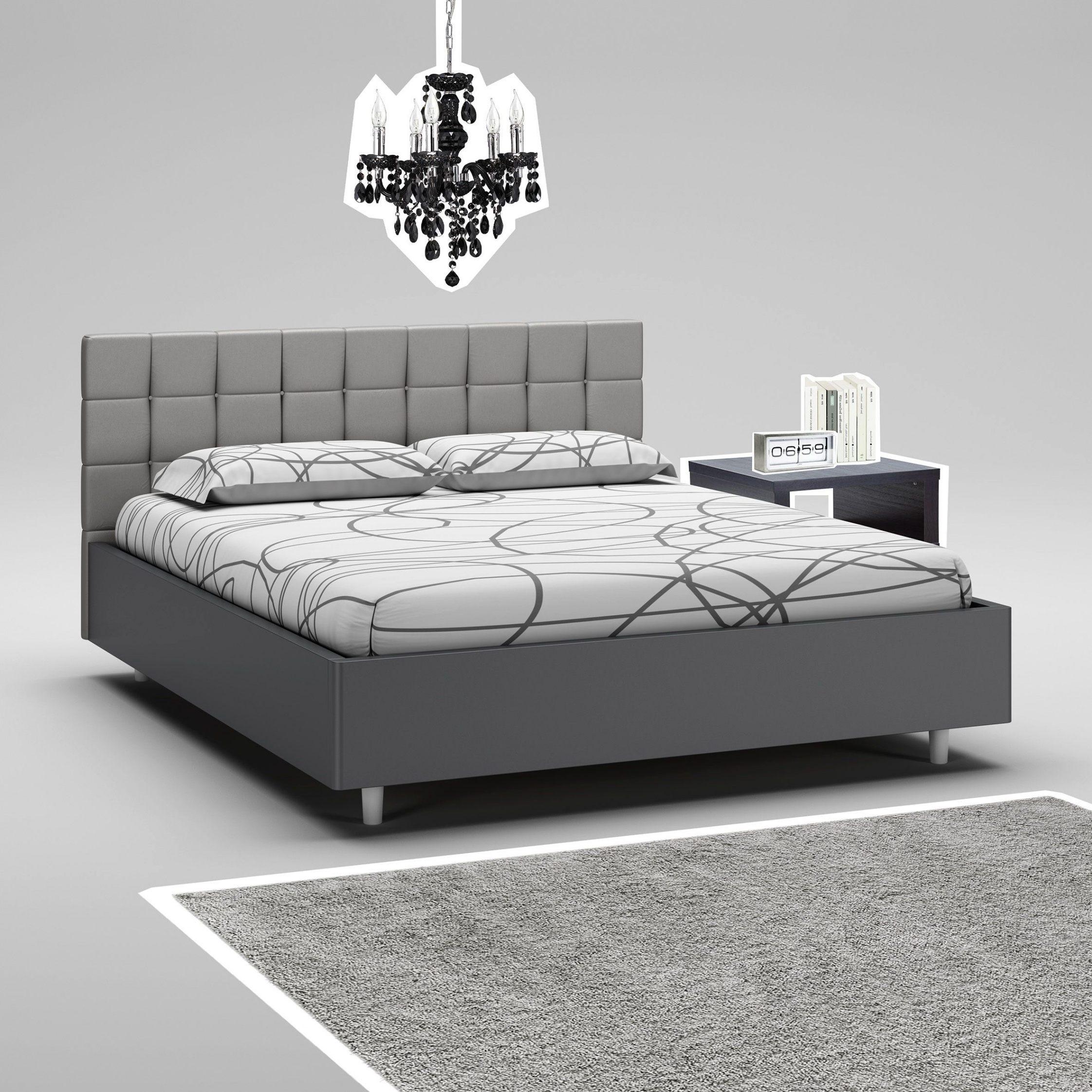 Lit Design 160x200 Lit Baldaquin 160x200 En Pin Blanc Cassé Lit De