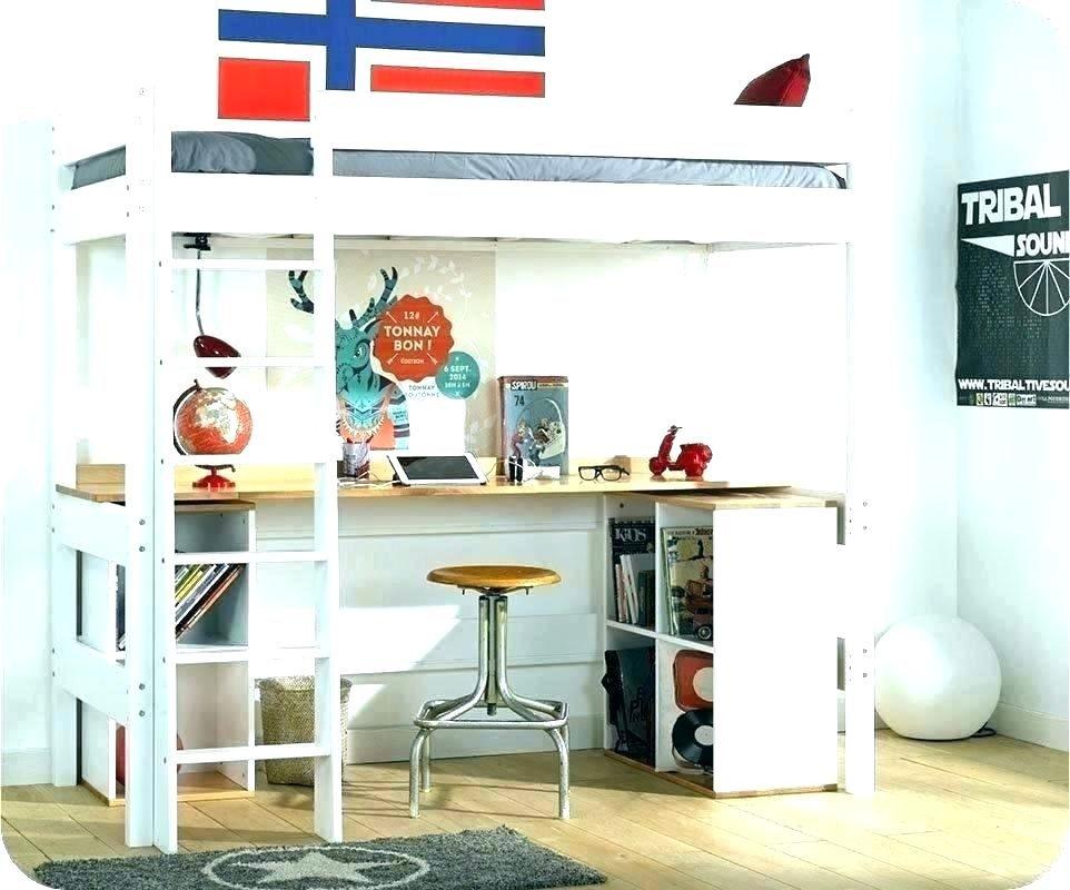 Lit Deux Places Avec Rangement Impressionnant Fabriquer Lit Mezzanine Avec Rangement Bureau Superpose 1 Teamfair