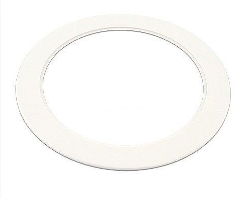 """Plastic White Light Trim Ring Recessed Can 6"""" Inch Over Size"""