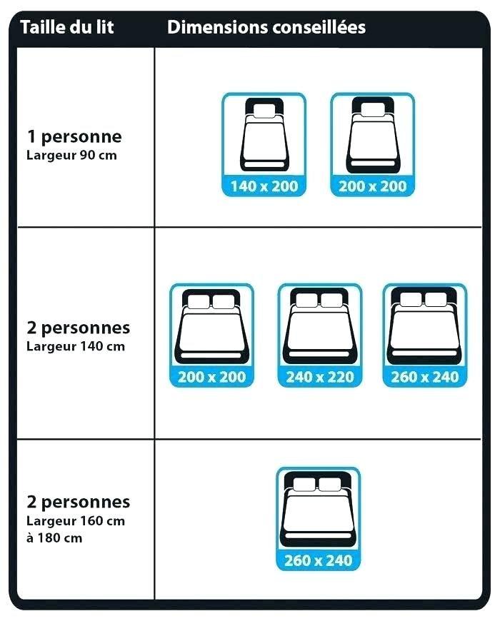 Lit Deux Places Taille Joli Lit Deux Places Taille Taille Lit Standard 2 Places Dimension