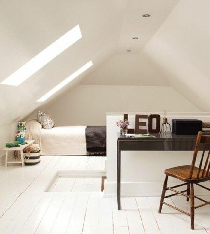 Lit En Bois Blanc Belle ▷1001 Idées Déco De Chambre Sous Pente Cocoon