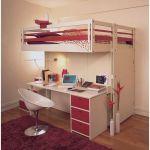 Lit En Hauteur 2 Places Élégant Luxe Lit Plateforme Avec Rangement Lit Mezzanine 2 Places Avec