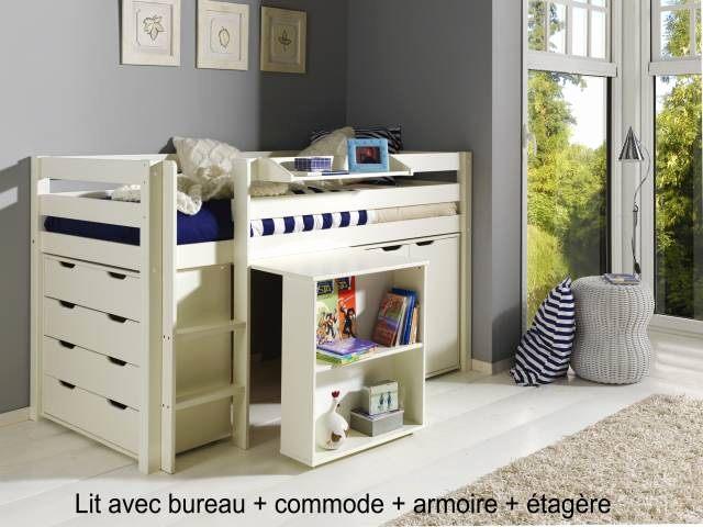 Lit En Hauteur Enfant Douce Lit Mezzanine Armoire Einzigartig Lit Mezzanine Avec Bureau