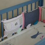 Lit Enfant 70x140 Fraîche Tour De Lit Multicolore En Forme De Train Pour Lit Bébé 60 X120 Ou