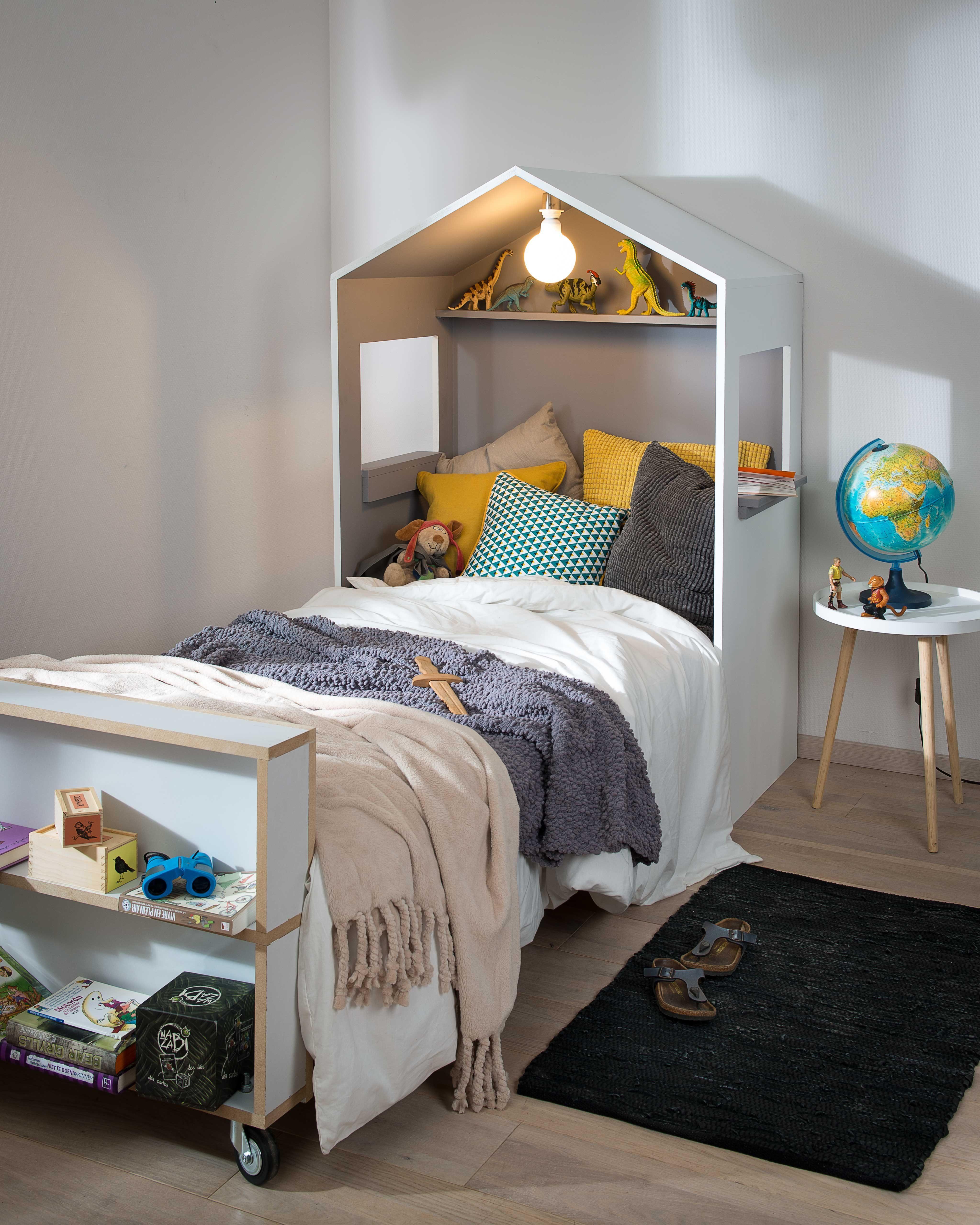Lit Enfant Au sol Unique Tªte De Lit Cabane Pour Les Makers Lit Enfant Garcon