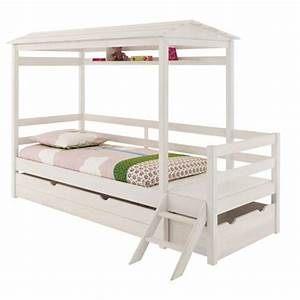 Fly Lit Enfant lit enfant avec barriere 5 lit cabane tripes fly