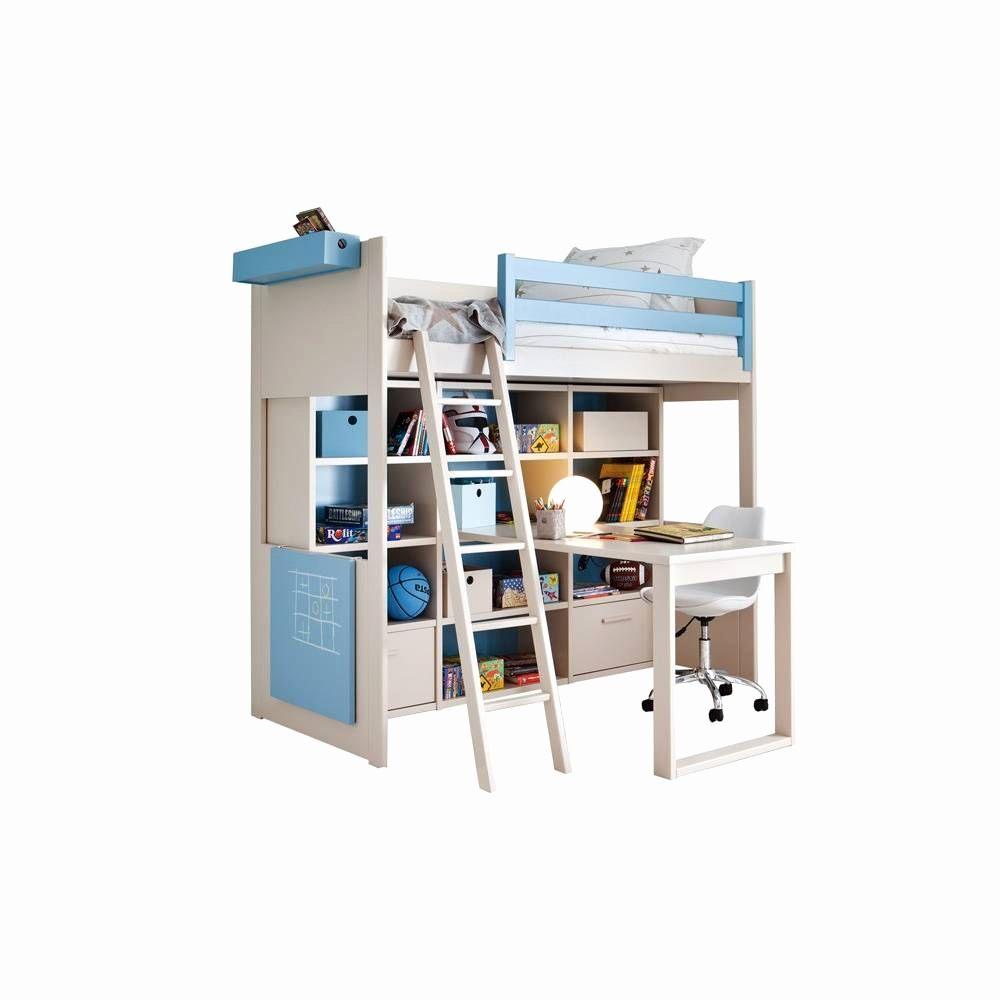 Lit Enfant Avec Bureau Élégant Lit Mezzanine 1 Place Avec Bureau Graphie Lit Mezzanine 140—190