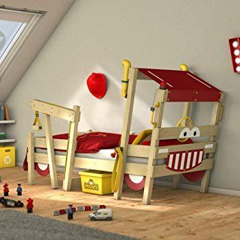 WICKEY lit pour enfant CrAzY Hutty avec toboggan Lit mezzanine
