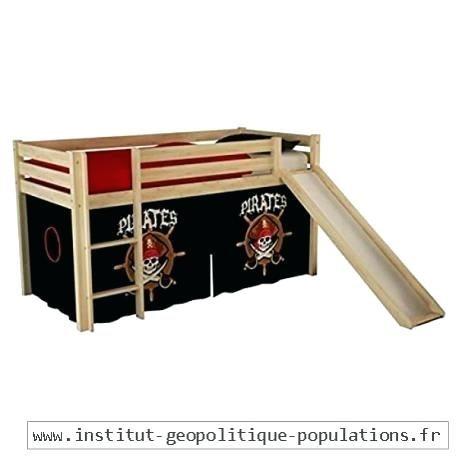 Lit Enfant Avec toboggan Magnifique Lit Mezzanine Blanc Avec toboggan Et Rideau Rouge Disney Cars 90—190