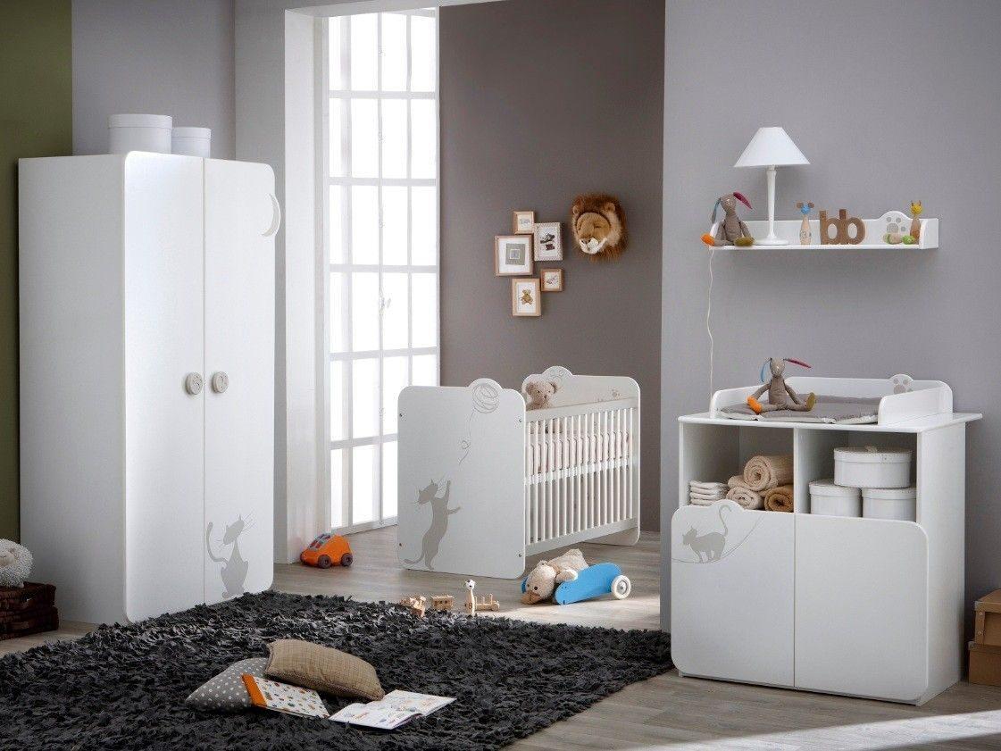 Lit Enfant Barreau Élégant Chambre Pl¨te Bébé Jade 60×120 Chambre Mixte Motif Petit Chat