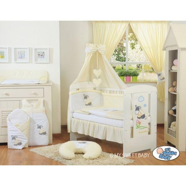 Autre Lit et parure de lit bébé ¢ne cr¨me jaune ciel de lit coton
