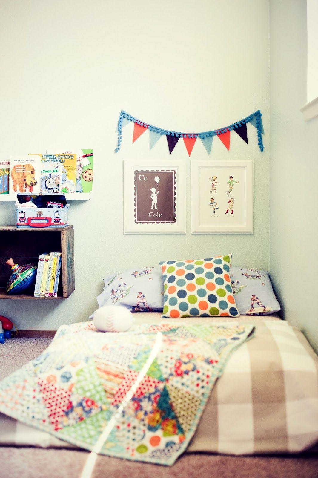 Lit Enfant Barreau Luxe Mattress On the Floor = toddler Bed Montessori Nursery