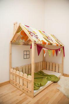 Lit Enfant Cabane Agréable House Shaped Bed Montessori Bed or toddler Bed Floor Bed Full