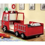 Lit Enfant Camion Magnifique Rescue City Freddy Twin Fire Truck Bed Red Kids Panel Beds At