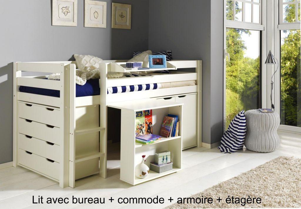 Lit Enfant Design Joli Lit Gigogne Avec Bureau