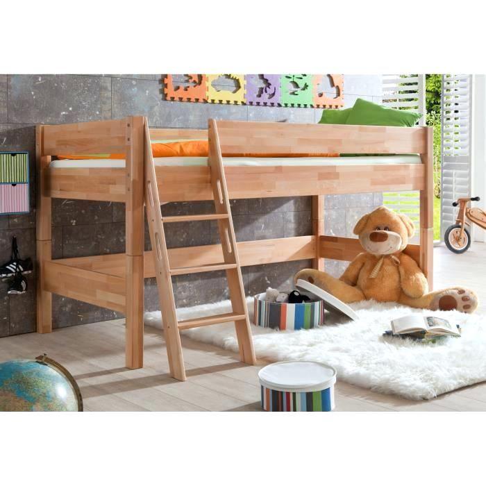 Lit Enfant Hauteur Magnifique Acheter Lit Mezzanine Lit Mi Hauteur Pour Enfant 90—200 Coloris Bois