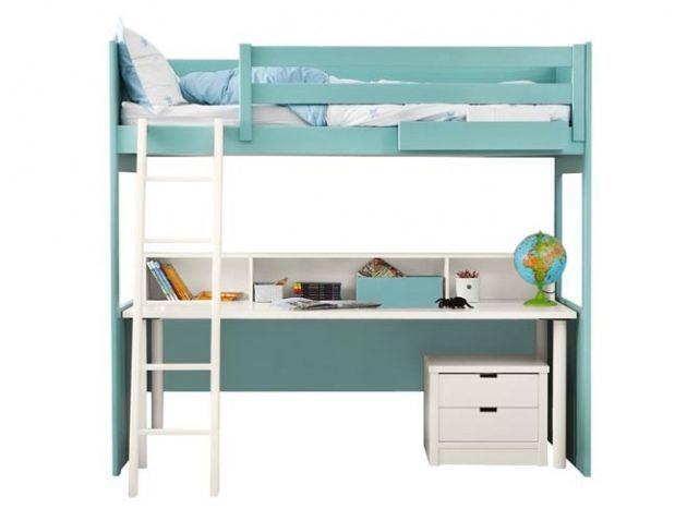 Lit Enfant Mezzanine Avec Bureau Luxe Lit Ado Mezzanine Bleu Blanc Lit organisé Pinterest