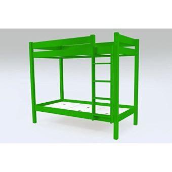 Lit Enfant Mezzanine Élégant Abc Meubles – Lit Lit Mezzanine Abc échelle – Supabcdr90 Vert Lit
