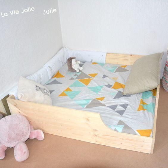 Lit Enfant Montessori Frais Lit Au sol Pour Bébé 2 Nouvelle Version
